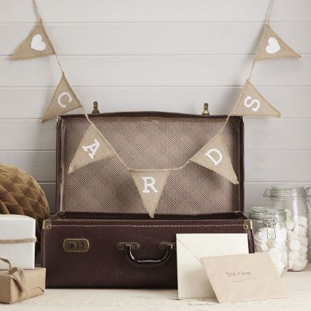 Wedding Cards Hessian Bunting